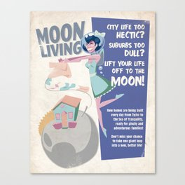 Moon Living Canvas Print