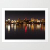 Skyline of Harrisburg, Pennsylvania Art Print