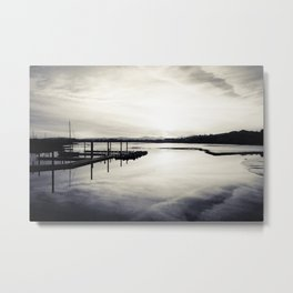 Pwllheli Marina - Mirror Reflection 02 Metal Print