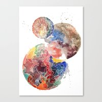 planets Canvas Prints featuring Planets by emluluna