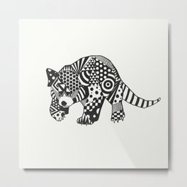 Red PandOo Metal Print