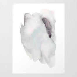 Winter Silent Elegance - Moody Abstract Watercolour Art Print