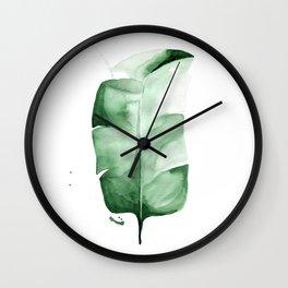 Banana Leaf no. 3 Wall Clock