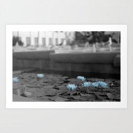 Lily Pad Blues Art Print