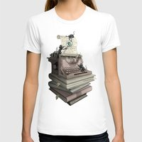 bookworm T-shirts featuring Bookworm by BlancaJP