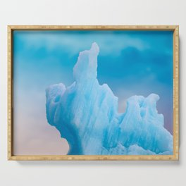 Abstract Icelandic Iceberg Serving Tray