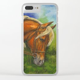Sorrel Horse with Light Mane Clear iPhone Case