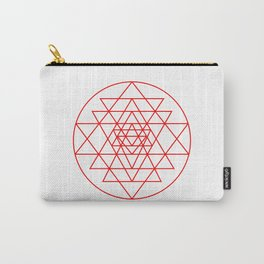Shree Yantra detail, sacred geometry, yoga art Carry-All Pouch