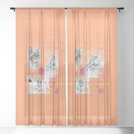 Cats and psychoanalysis Sheer Curtain