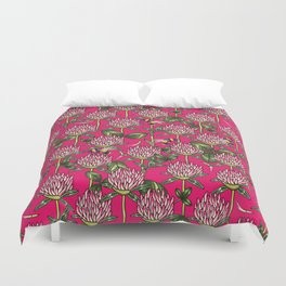 Red clover pattern Duvet Cover