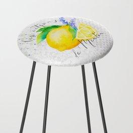 Les Citrons de Menton—Lemons and Lavender, Provence Counter Stool