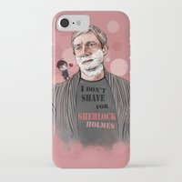 johnlock iPhone & iPod Cases featuring Shaving by Monika Gross
