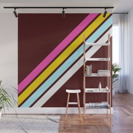 80's Style Retro Stripes Wall Mural