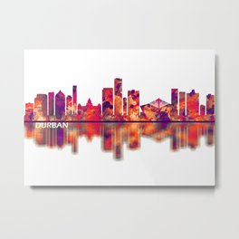 Durban South Africa Skyline Metal Print