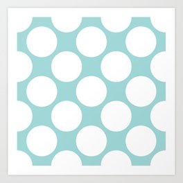 Polka Dots Blue Art Print