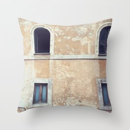 Windows on Rome Throw Pillow