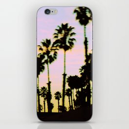 California Dreaming Palm Trees Sunset iPhone Skin