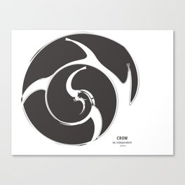 CROW GREY: be independent Canvas Print