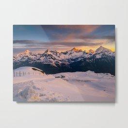 Alpine sunrise (RR201) Metal Print