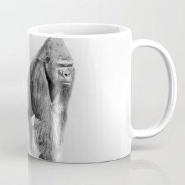 Wild Gorilla in Fogs Black and White Photography Art Coffee Mug