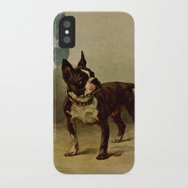 Earl,Maud (1864-1943) -The Power of the Dog 1910 (Boston Terrier) iPhone Case