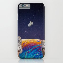 hanging out in space iPhone Case
