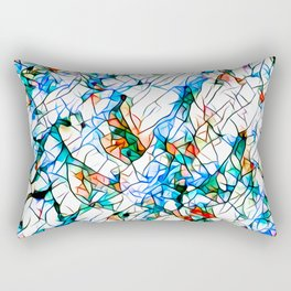 Glass stain mosaic 1 abstract - by Brian Vegas Rectangular Pillow
