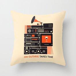 Jim Guthrie Takes Time Throw Pillow