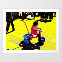 cycling Art Prints featuring Cycling by lookiz
