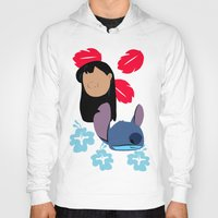 lilo and stitch Hoodies featuring Lilo & Stitch by Raquel Segal
