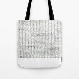 Gray Wool Tote Bag