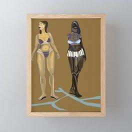Two ladies  Framed Mini Art Print