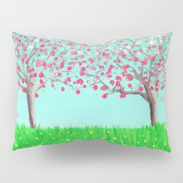 Sisters - Dogwood Trees in a Spring Meadow Pillow Sham