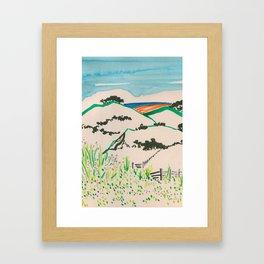 To the beach -Minimalist Landscape Framed Art Print