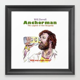 Anchorman: The Legend of Ron Burgundy Framed Art Print