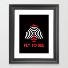 Fly 2 Bee Framed Art Print