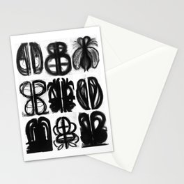 Abstract Charcoal Drawings Stationery Cards
