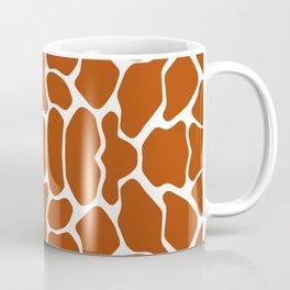Rust Red Safari Giraffe Coffee Mug