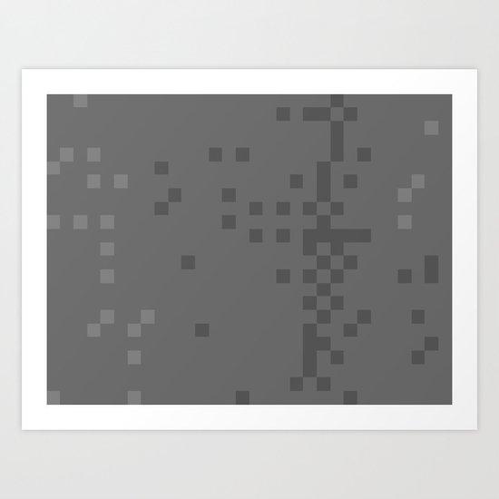 ABSTRACT PIXELS #0019 Art Print
