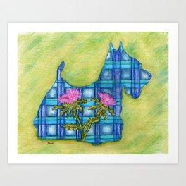 Scottish Terrier Silhouette Art Print