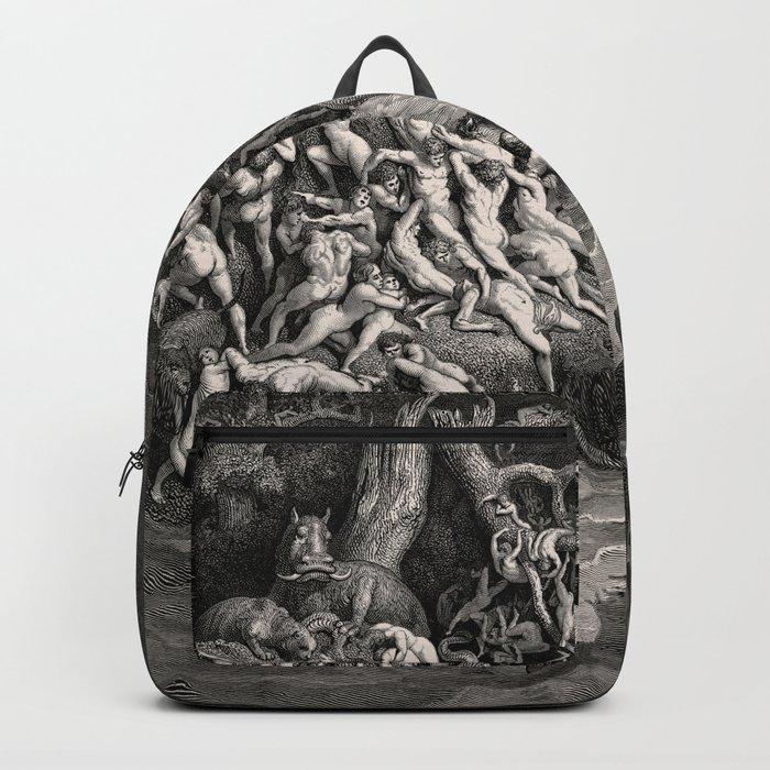 World Destroyed by Water Gustave Dore, 1866 Rucksack