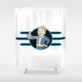 Fallout 4 Vault Boy Thumbs Up Shower Curtain