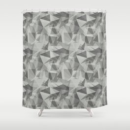 Abstract Geometrical Triangle Patterns 3 Benjamin Moore 2019 Color of the Year Metropolitan Light Gr Shower Curtain