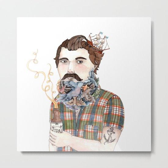 Flock of Beards Metal Print