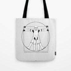 Vitruvian Stormtrooper Tote Bag