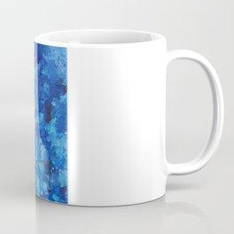 Blue puddle square peg Coffee Mug