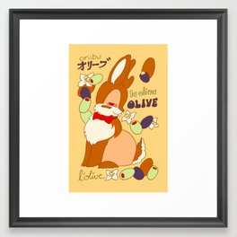 Jackalope and Olive Framed Art Print