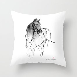 Horse (Lunging) Throw Pillow