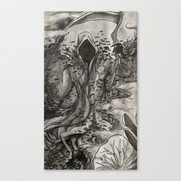 A Watery Grave: Aquatic Death Canvas Print