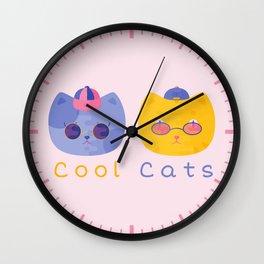 Cool Cats Wall Clock